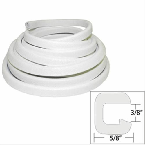 TACO Flexible Vinyl Trim - Opening x W x 25L - White - V30-1312W25-1