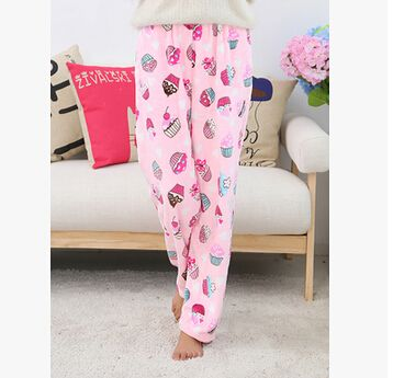 Cheap Pants Gym Buy Quality Pant Kid Directly From China Beach Suppliers Winter Pajama Cute Cartoon Flannel Sleep Female Thickening