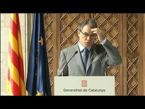 Compareixença del president Mas davant els mitjans (12.09.12)