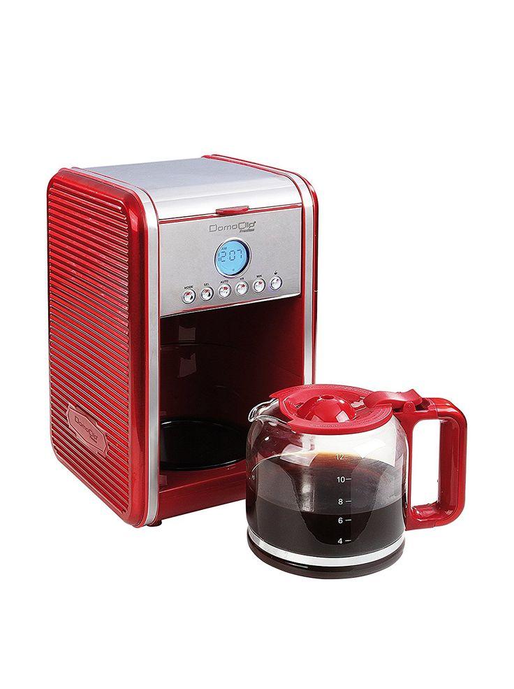 Domoclip - dod121 - Cafetière programmable 15 tasses 900w rouge: Amazon.fr: Cuisine & Maison
