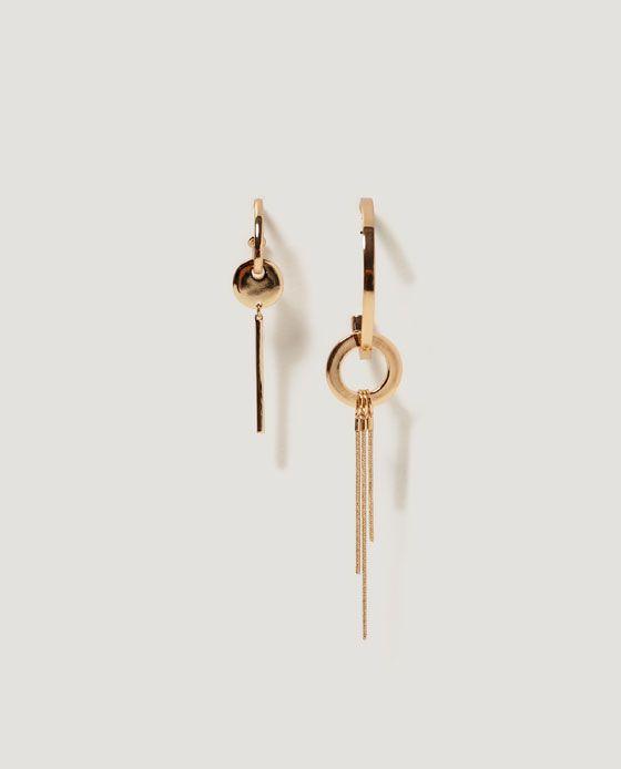 Image 1 of ASYMMETRIC EARRINGS from Zara