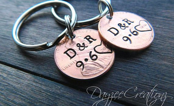 Sentimental Personalized Valentine's Day Gift. Lucky Penny keychains… the gift they'll take everywhere! Love you to the Moon and Back Penny Keychain…
