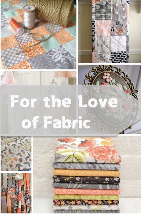 For the Love of Fabric   Peach and gray