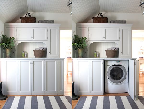 Concealed Washer And Dryer By Sage Design Custom Millwork This Is Exactly What I Need To Do In Our Small Utility Room Off The Kitchen