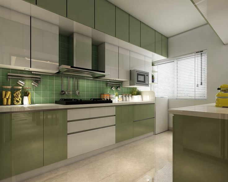 this render of a modular parallel kitchen concept designed by veterans interiors features a la on kitchen interior parallel id=36057