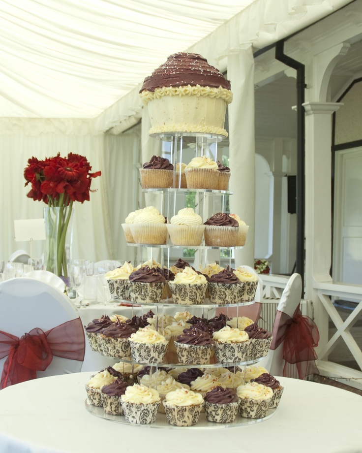 mini wedding cake towers wedding cupcake tower with a cupcake topper 17437