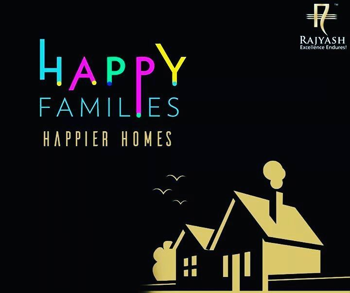 Its not how big the house is its how happy the home is!  #FamilyQuotes #RajYashRise #Ahmedabad #realestate #realestateagent #roomporn #homedecor #home