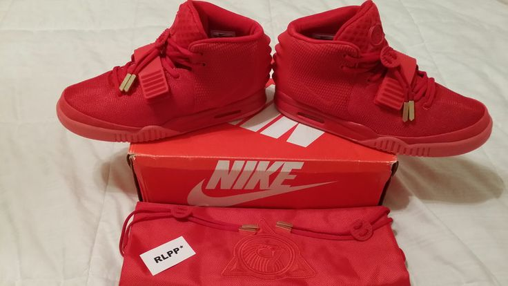 Red October's Shoes | Nike Air Yeezy 2 Solar Red October Glow in Dark Shoes Men's Size 10 ...