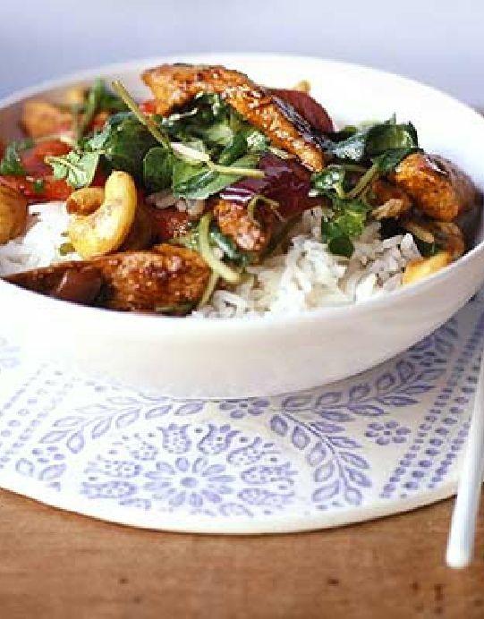 Low FODMAP Recipe and Gluten Free Recipe - Watercress & chicken stir-fry http://www.ibssano.com/low_fodmap_recipe_watercress_chicken.html