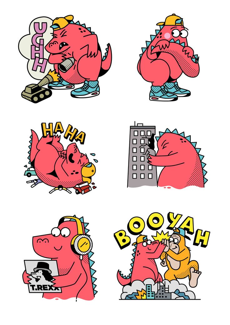 Gerald the Jurassic Giant Set – A set of unique animated stickers to be used on Google's Allo messaging app.