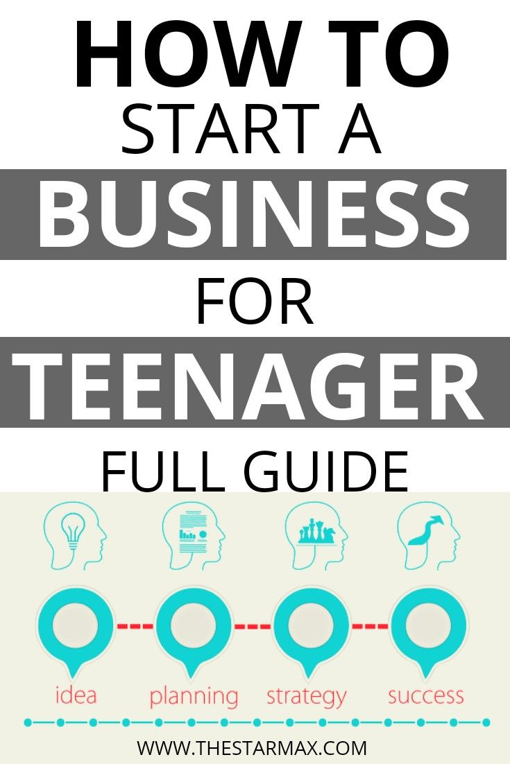 How To Start A Business For Teenagers Success Business Starting A Business Making A Business Plan