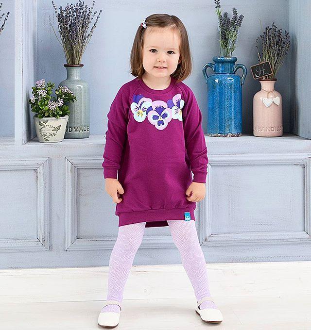 🍭НОВИНКА🍭 Яркие сливовые платья-свитшоты. Сделаны из футера 100% хлопок Можно носить с колготками или лосинами💜 Размеры: 86,92,98,104,110 Цена: 1340 руб.
