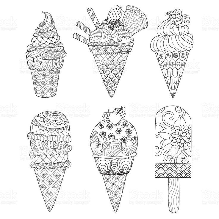 Eis Malbuch Lizenzfreies Eis Malbuch Stock Vektor Art Und Mehr Bilder Von Ausmal Ausmal Bilder L Coloring Books Coloring Pages Ice Cream Coloring Pages