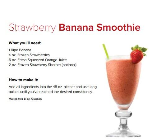 Strawberry Banana Smoothie. http://www.ninjamasterprep.net/