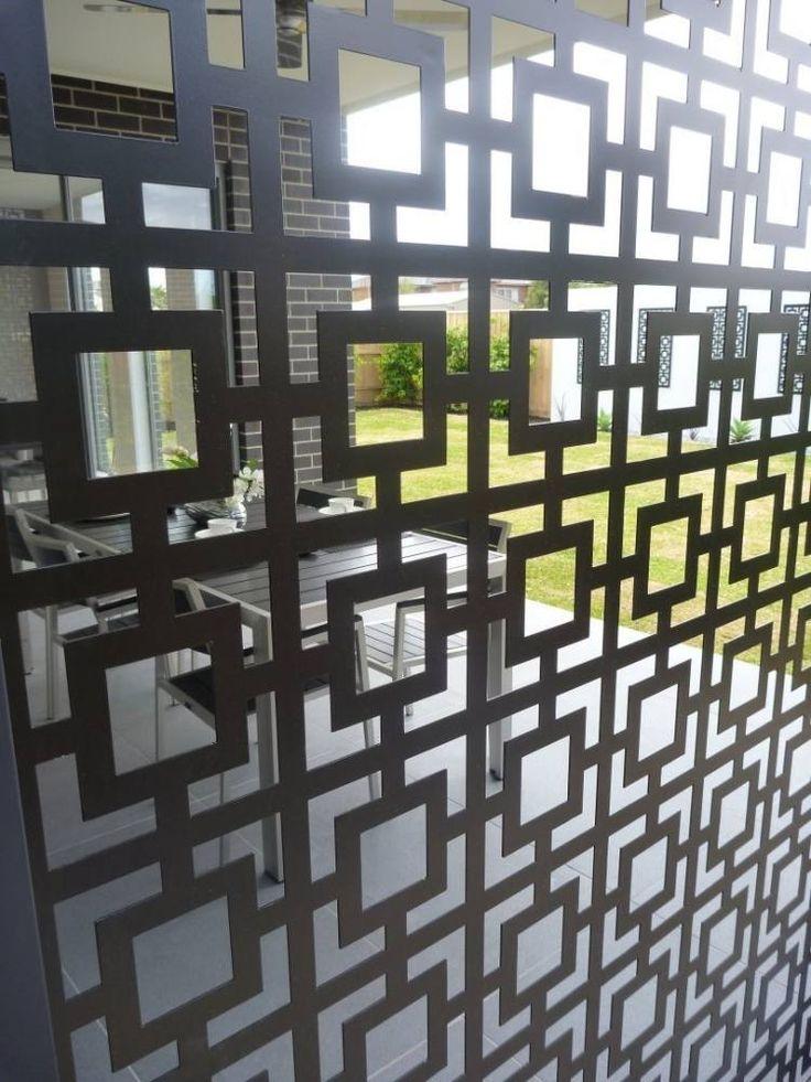 panneau occultant en métal pour le zonage terrasse et jardin