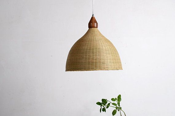 Bamboo and Wood pendant lamp - ceiling lamp - hanging lamp - lamp set - Love Nature - bamboo and wood - modern lighting - lighting - home on Etsy, $114.27 CAD