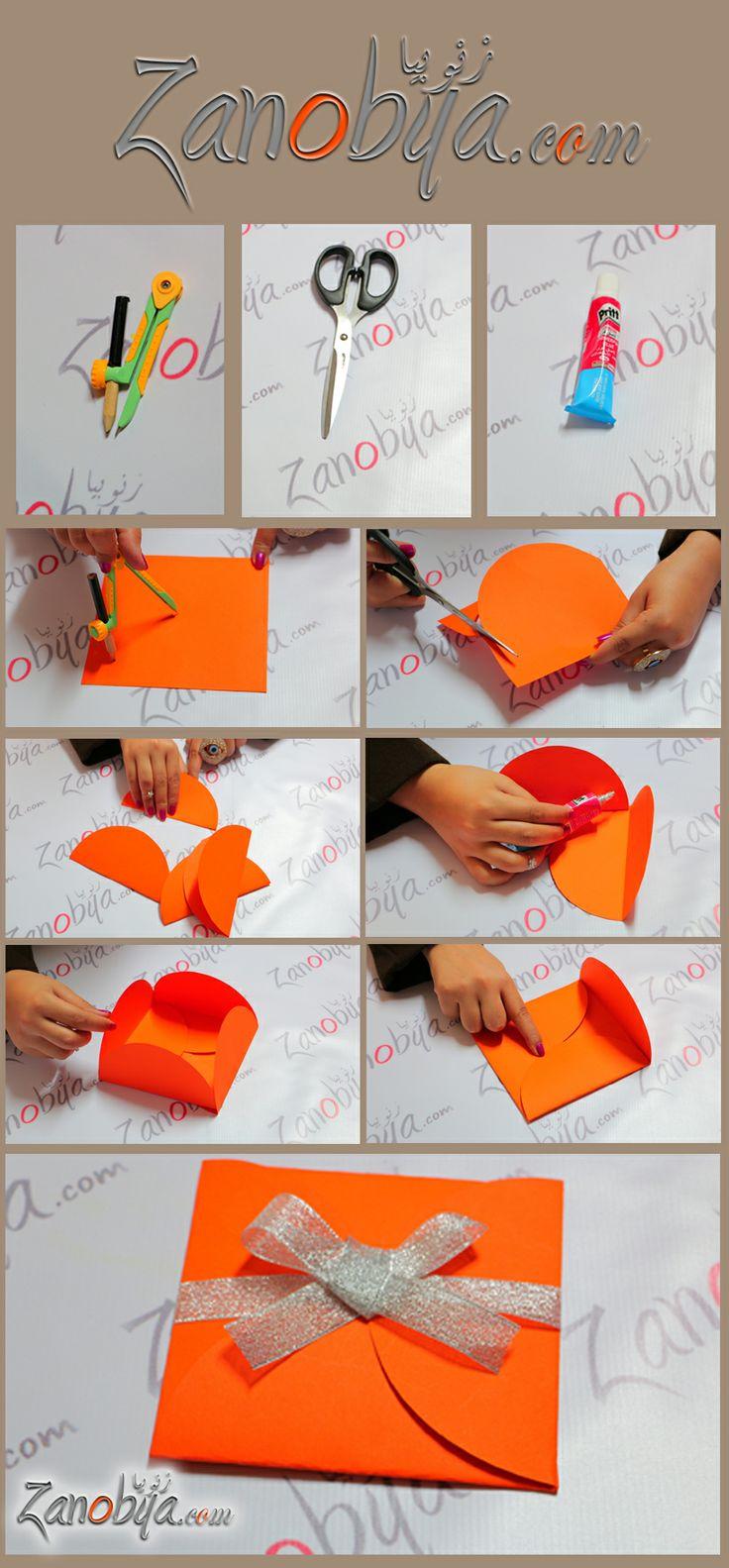 بالفيديو طريقة عمل غلاف بطاقة تهنئة مميز | DIY - اعمال ...