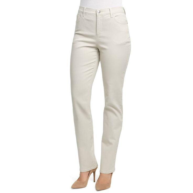 Petite Gloria Vanderbilt Amanda Classic Tapered Jeans, Brown
