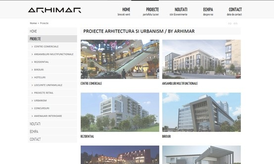 Web design & development - Arhimar.ro