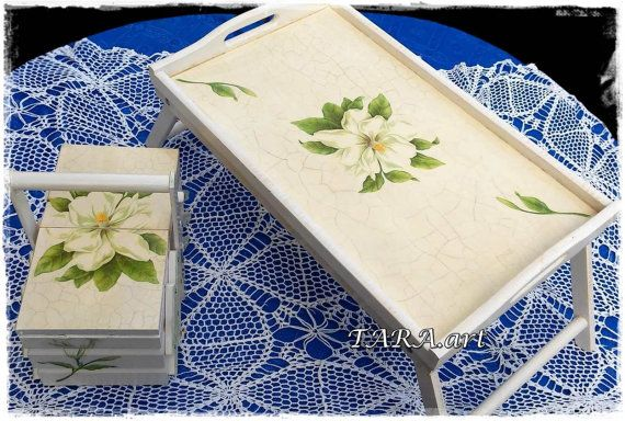 Tray  Sewing Box decorative Tray  Sewing Box by LaverdureStudio