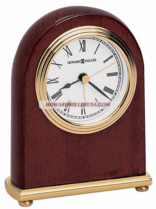 Howard Miller Alarm Clocks Tabletop Desktop | ROSEWOOD ARCH 613 487 White  Dial With Triple