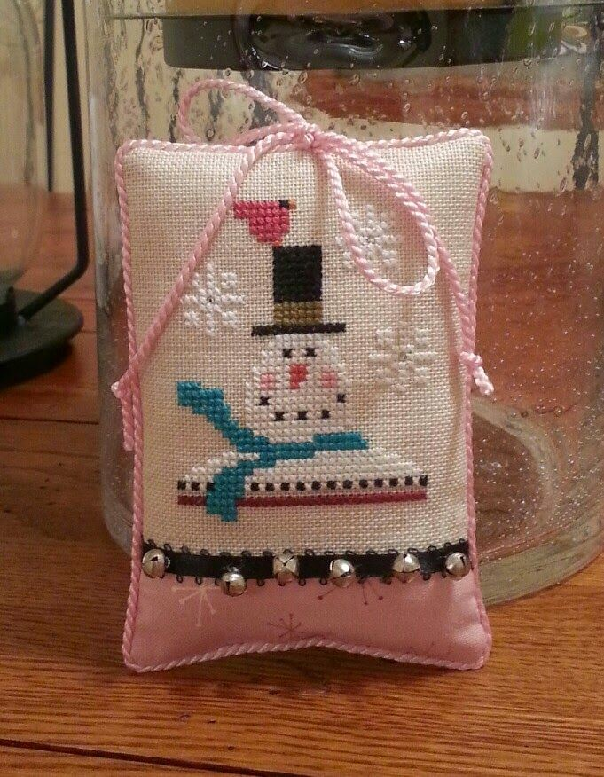 Cross Stitch Inspiration By Cindy DeRosa: Another snowman, so cute. and bottle brush trees