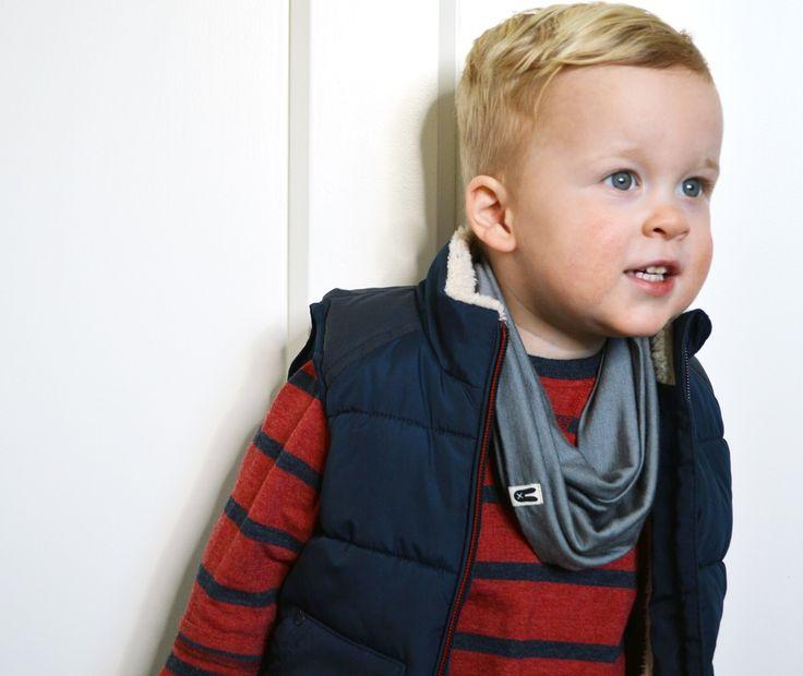 Toddler infinity scarf by Baby York. 100% merino, handmade in New Zealand. www.bridgetyork.com