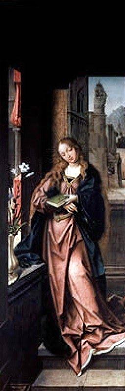 La Anunciación, atribuida a Jan Provost, en Funchal (Madeira)