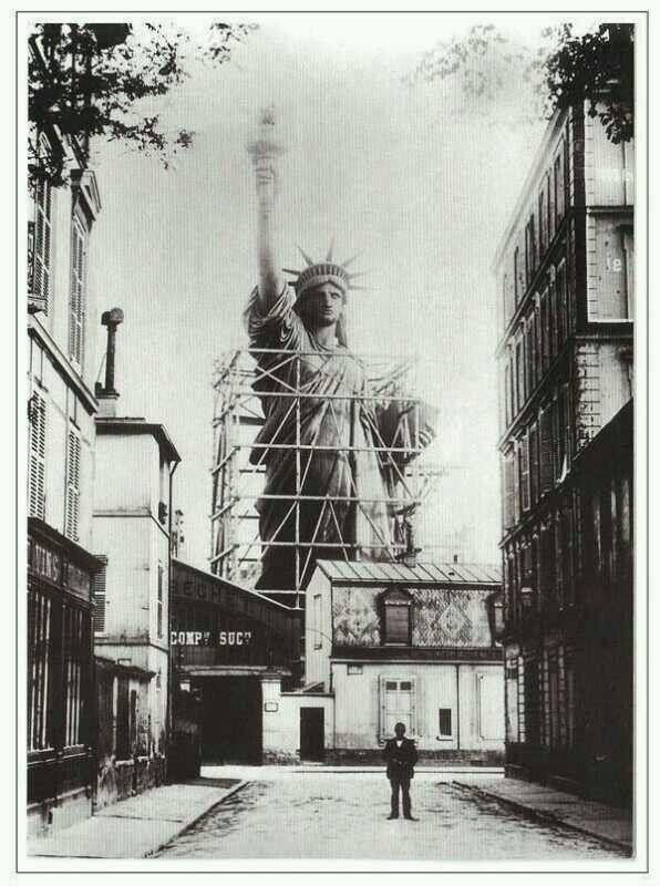 Statue of Liberty, being constructed in France