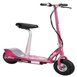 If you want a Razor electric scooter with seat, you have 5 to choose from. All are very different, we compare them all to reveal best one for you. See the best Razor electric scooter with seat here: http://www.scooterselect.com/razor-electric-scooter-with-seat/
