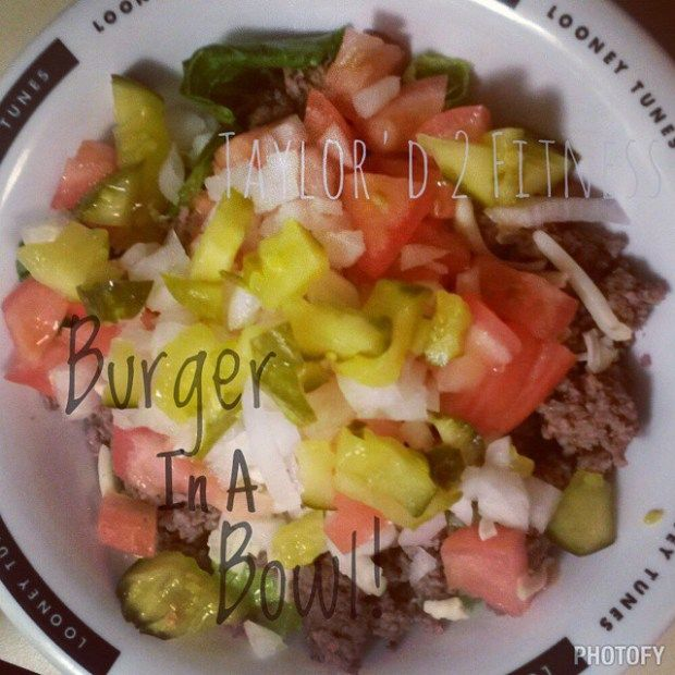 21 Day Fix Approved BURGER IN A BOWL!