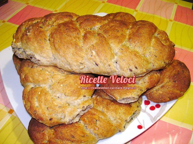 Trecce di pane con semi