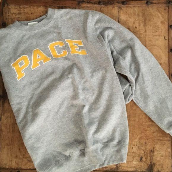 Pace University Sweatshirt  Super comfortable Pace University sweatshirt! Only worn a few times. Willing to negotiate prices! Champion Sweaters Crew & Scoop Necks