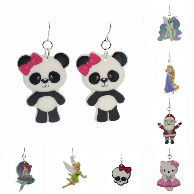 Fashion Kawaii Shopping Animal Resin Drop Earrings For Little Girls Cartoon Planar Resin Children's Jewelry Earrings 19 Styles