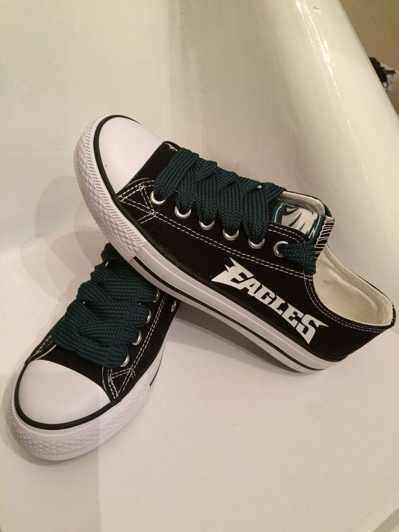 Philadelphia+eagles+unisex+tennis+shoes+by+Sportzfanatics+on+Etsy