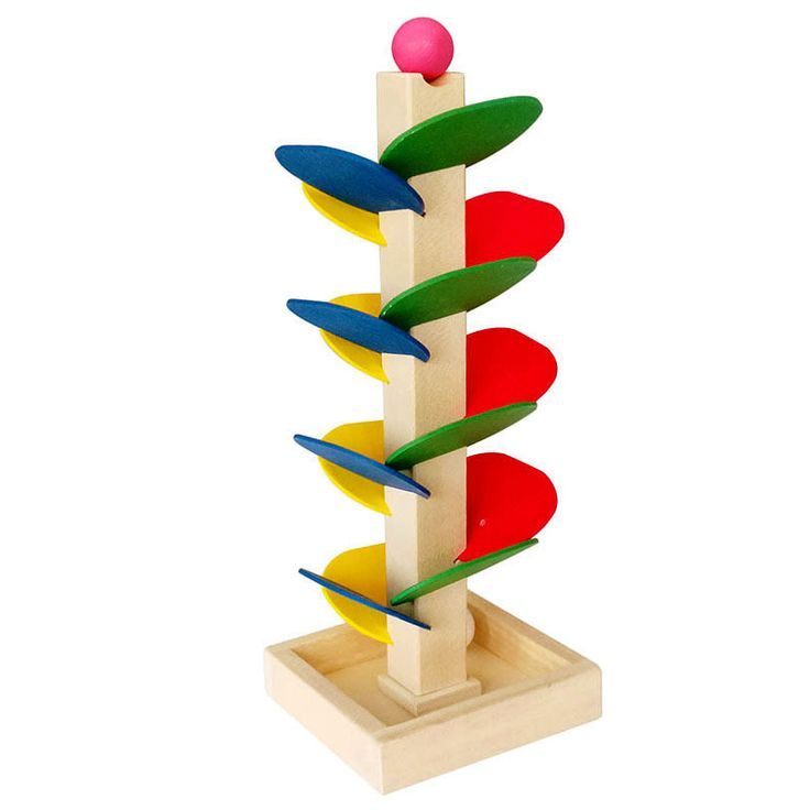 Learning puzzle Educational Wooden Multi-function Baby Learning Leaves Tower Bead Roller Coaster Toys Set For Kids Children MZ48