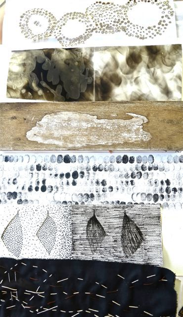 studio-archive: sophie munns: post on Human Marks workshop at Bunya Qld Australia with Canadian artist Dorothy Caldwell