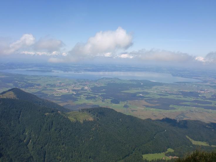 Blick über das Chiemgau vom Hochfelln