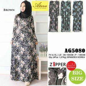 Baju Gamis Muslim Lengkap: grosir pakaian fashion murah AG5080