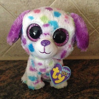 "Ty DARLING the 6"" Dog Beanie Baby Boo's ~ 2013 NEW ~ Justice Exclusive ~ IN HAND"
