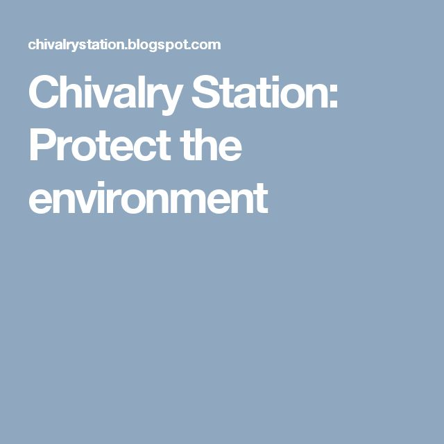 Chivalry Station: Protect the environment
