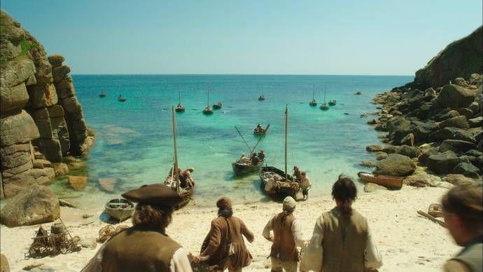 Porthgwarra Cove, The Locations of Poldark   Season 1   Poldark   Programs   Masterpiece   PBS