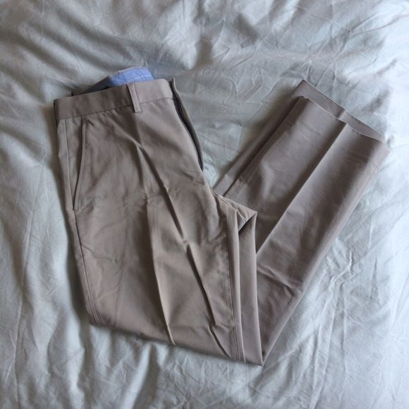 J. Crew Mens Chino Pants J. Crew Mens Chino Pants in khaki. Flat front, zipper fly, button hook. 100% cotton. Never worn! Need pants for work? Make me an offer!! J. Crew Pants