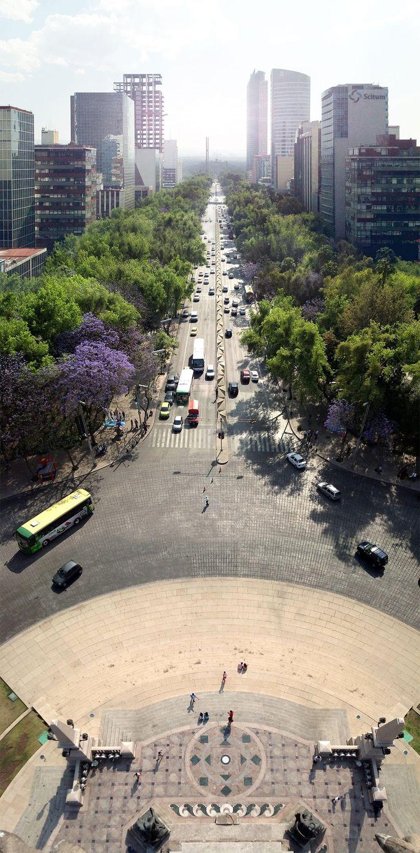 Monumento a la Independencia, en la calle de Reforma, ciudad de México, DF, Mexico.