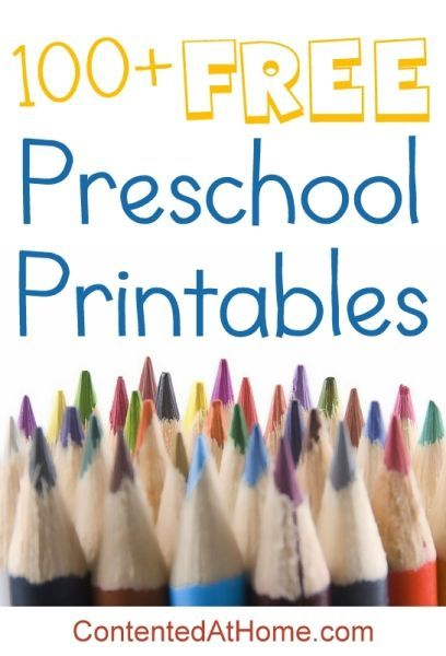 An awesome list of the very best FREE preschool printables for home activities!