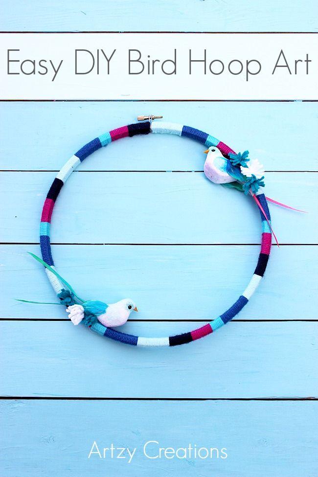 DIY-Easy-Bird-Hoop-Art-Artzy Creations 1