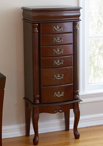 This Classic Mahogany Armoire Is Sure To Make A Valued