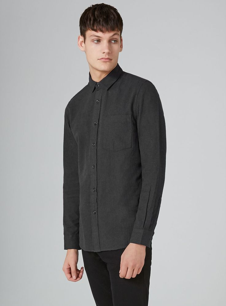 Gray Flannel Herringbone Shirt - BLACK FRIDAY – Up to 50% off selected lines - Clearance - TOPMAN USA