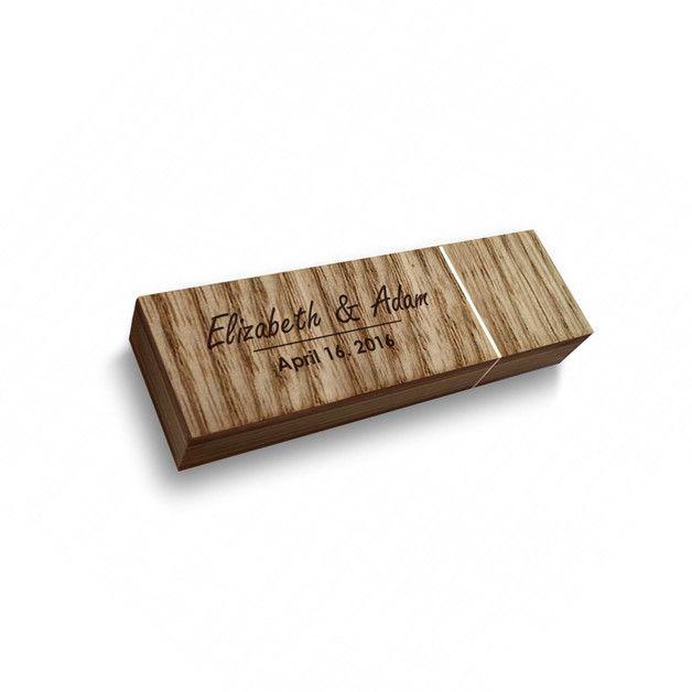 USB-Sticks - USB stick hochzeit mit gravur | Holz 64GB USB 3.0 - ein Designerstück von ZaNa-Design bei DaWanda