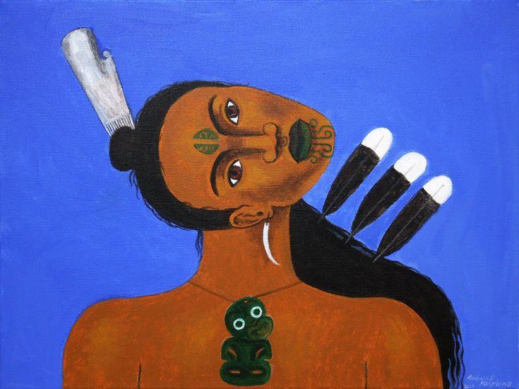 Nga Huia (Tiki) by Robyn Kahukiwa